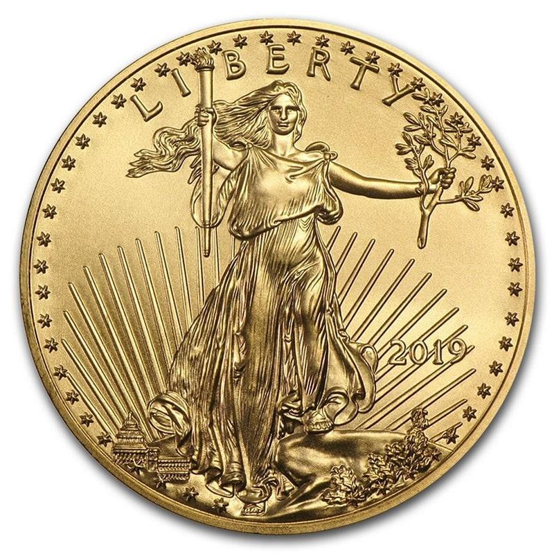 Moneda de Oro AMERICAN EAGLE Estadounidense 1 OZ