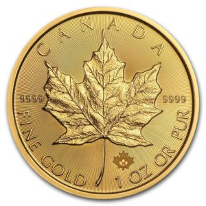Moneda de Oro MAPLE LEAF Canadiense 1 OZ