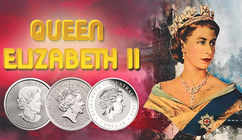 Reina Isabel II en Las MONEDAS DE PLATA & ORO